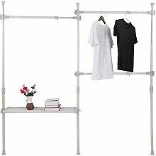 Kleiderständer multifunktionale 3-Lagen-Schienen