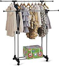 Kleiderstange Rollen, Ausziehbare Kleiderstange