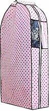 Kleidungs-Schulter-Abdeckungs-Klage-Staub-Abdeckungs-hängende Mantel-Tasche 60x26x110CM (Rosa)