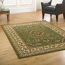 Klein klassischer Orient Perser-Stil Blumen Traditioneller Teppich Läufer/Matte, grün–60x 110cm