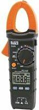 Klein Tools CL210 Digitale Stromzange AC mit automatischer Bereichseinstellung und Temperaturmessspitze (CAT III, 600V), Schwarz/Orange