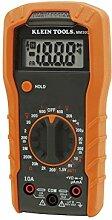 Klein Tools MM300 Digitales Multimeter, manuelle Bereichseinstellung, 600 V, CAT III, Orange/Schwarz