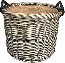 Kleine Antique Wash Runde Seil behandelt Log Korb