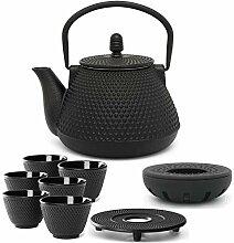 kleine asiatische gusseiserne Teekanne Set 1.0