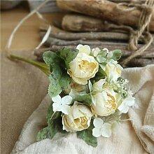 Kleine Blume Pfingstrose Bouquet Hochzeit Home