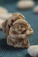 Kleine Dekofigur handmade orientalische Figur Haus Dekoration Daikoku Netsuke