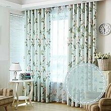 kleine florale Vorhang/Wohnzimmer Schlafzimmer Fenster Erker/Sonne Vorhänge-G 150x270cm(59x106inch)
