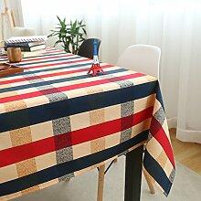Kleine frische baumwolle leinen stoff tisch tuch/ländliche tischdecke/europäisches couchtisch mat tuch-A 90x140cm(35x55inch)