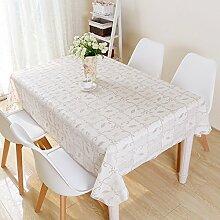 Kleine, frische Blumen Garten Tischdecken rechteckige Kunststoff Tischdecke Spitze Rot karierte Tuch Mode PVC wasserdicht Tabelle, Curry, 100 * 160 cm,