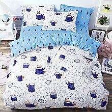 Kleine Frische Mode Nachahmungen Von Baumwolle Eine Vierköpfige Familie Bettwäsche,Dreamforest-2.0