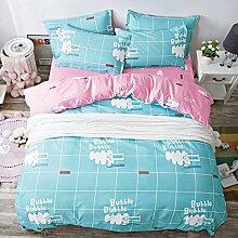 Kleine Frische Mode Nachahmungen Von Baumwolle Eine Vierköpfige Familie Bettwäsche,Earlymorningtime-2.0