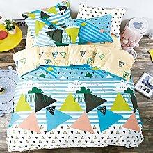 Kleine Frische Mode Nachahmungen Von Baumwolle Eine Vierköpfige Familie Bettwäsche,Rainyseasonmemories-1.0
