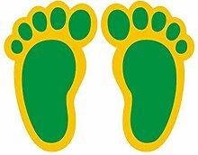 Kleine Fußabdrücke Aufkleber benutzerdefinierte