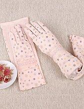 Kleine Gänseblümchen-Sonnenschutz-Handschuhe Weibliche Sommer-dünne lange Touch-Screen-Fahrhandschuhe Driving Shade Cotton Handschuhe ( Farbe : 2 )