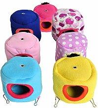 Kleine Hamster Animal Pet Nest Hütte Hängematte kuschelig zum Aufhängen Bett Spielzeug Zwerg Maus
