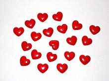 Kleine Herzen halbplastisch 20Stk. aus Kunststoff als schöne Geschenkidee für Verliebte, Herzchen zum Aufkleben und Basteln, Valentinstagsgeschenk, Herz Tischdeko