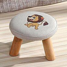 Kleine Hocker für Schuhe Hocker Massivholz-Stoff Kreative Children 's Erwachsener Kleine Stuhl Sofa Hocker (einer Vielzahl von Stilen optional) ( farbe : G )