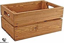 Kleine Holzkiste - Stiege - Steige - Mini - Braun gebeizt - Geschenkverpackung - Geschenkidee - Präsentkorb - Leer