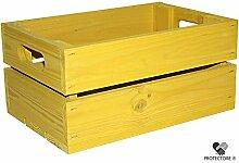 Kleine Holzkiste - Stiege - Steige - Mini - Gelb