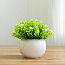 Kleine Kübelpflanzen bonsai Pflanzen simulation Heimtextilien Dekoration Dekoration dekorative Blumentopf Mailand New mini Schreibtisch, weißen Himmel Sterne Porzellan Waschbecken