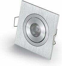 Kleine LED Einbaustrahler für CREE 3W LED eckig