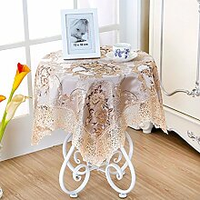 Kleine Quadratische Tischdecke,Der Stil Runden Tischdecke,Frischer Garten Lace Tisch Tuch-I 110x160cm(43x63inch)