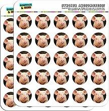 Kleine SCHWEIN Piggy 2,5 cm, 2.54 cm) Scrapbooking Handwerk Aufkleber