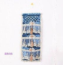 Kleine Tasche Multilayer Tuch Badezimmer Verbrauchsmaterialien bag Tasche Blau 3 Pocke