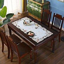 Kleine Tischdecke, bestickt, rechteckig, 55,9 x