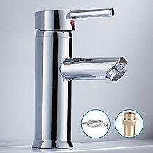 Kleine Waschbecken Waschtisch-Einhebelmischer Wasserhähne Chrom/Messing Washroom kurz
