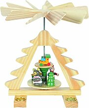 Kleine Weihnachts-Pyramide Tannenbaum, drehend: