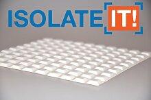 Kleine weiße 12,7 mm (1,27 cm) B x 3 mm (0,3 cm) H - Quadratisch Schrank und Möbel Bumper - , 100 Stück