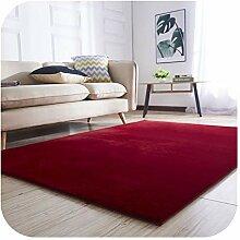 Kleine weiße Pelz-Wolldecke | Wohnzimmer Teppich