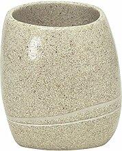 Kleine Wolke 5080226852 Zahnputzbecher Stones, Accessoires, sandbeige