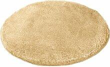 Kleine Wolke 5405220521 Badteppich Relax 100 cm rund champagner