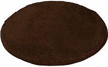 Kleine Wolke 5405301521 Badteppich Relax 100 cm rund nussbraun