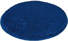 Kleine Wolke 5405736307 Badteppich Relax 60 cm rund atlantikblau