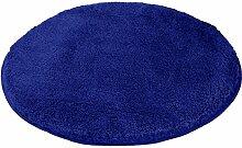 Kleine Wolke 5405736521 Badteppich Relax 100 cm rund d atlantikblau