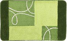 Kleine Wolke Badteppich Curly grün 60 x 100 cm
