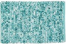 Kleine Wolke Badteppich Marseille, Türkis, 60 x