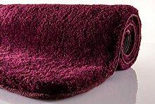 Kleine Wolke Badteppich Relax, Purple 100 cm rund