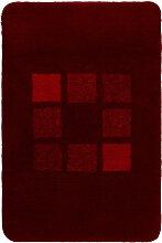 Kleine Wolke BADTEPPICH Rot 70/120 cm , Karo, 70 cm