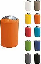 Kleine Wolke Glossy 5ltr Swing Bin (Orange) by