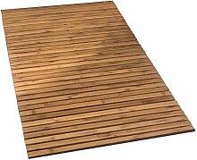 Kleine Wolke Holzmatte Level Badteppich, 100%