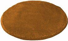 Kleine Wolke (Meusch) 2871316518 Badteppich Mona, 80 cm rund, ros