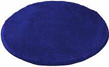 Kleine Wolke (Meusch) 2871736518 Badteppich Mona, 80 cm rund, atlantikblau