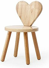 Kleiner Hocker, Massivholz Rücken Stuhl,