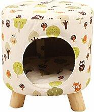 Kleiner Hocker mit einem Haustier Nest erhältlich für vier Jahreszeiten können Sie die Reinigung Hocker Sets öffnen ( Color : #1 )