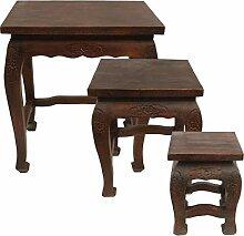 Kleiner Hocker Tisch Holzhocker Beistelltisch