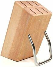 Kleiner HOLZ MESSERBLOCK für 6 Küchen Messer